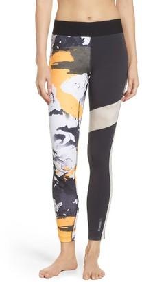 Women's Reebok Elite Paint Splatter Leggings $65 thestylecure.com