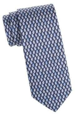 Salvatore Ferragamo Fall Leaves Silk Tie