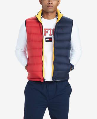 Tommy Hilfiger Men's Valero Reversible Colorblocked Down Puffer Vest
