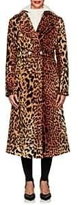 Victoria Beckham Women's Leopard-Print Belted Long Coat - Leopard