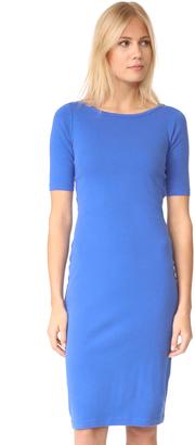 Three Dots Heritage Rib Elbow Sleeve Sheath Dress $68 thestylecure.com