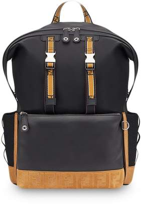 Fendi contrast buckle backpack