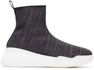 Stella McCartney check platform hi top trainers