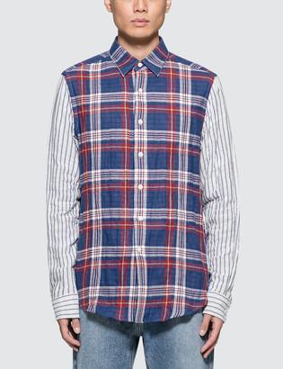 Loewe Patchwork Sleeve Check Shirt
