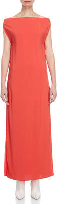 Liviana Conti Coral Off-the-Shoulder Maxi Dress