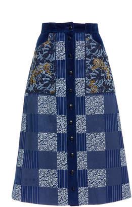 Mary Katrantzou Edie Patchwork Skirt