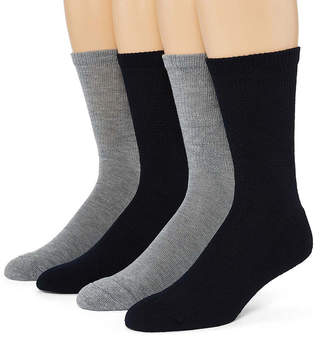 Dr. Scholl's Dr. Scholls Diabetes And Circulatory 4 Pair Crew Socks-Mens