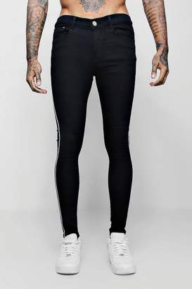 boohoo Spray On Skinny Jeans With Piped Side Seam