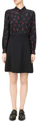The Kooples Cherry Love Printed A-Line Dress