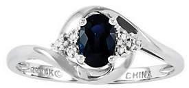 QVC Polished Birthstone Ring, 14K White Gold