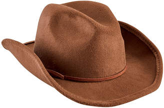 San Diego Hat Company Faux Wool Cowboy Hat with Trim