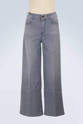 Silène wide-leg cropped jeans Atelier Notify QegMOpo