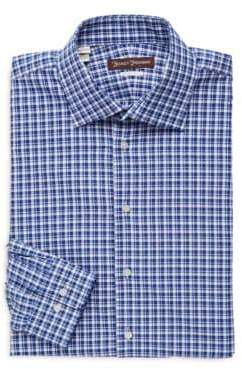 Hickey Freeman Classic-Fit Plaid Dress Shirt