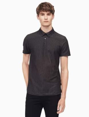 Calvin Klein slim fit vertical stripe polo shirt