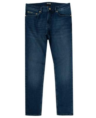 Versace Narrow Fit Jeans Colour: MID BLUE, Size: 30R