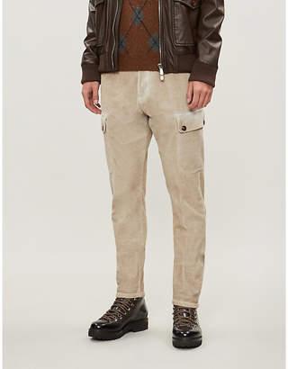 Eleventy Slim-fit skinny stretch-corduroy cargo trousers