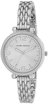 Laura Ashley Women's LA31006SS Analog Display Japanese Quartz Silver-Tone Watch $59.99 thestylecure.com