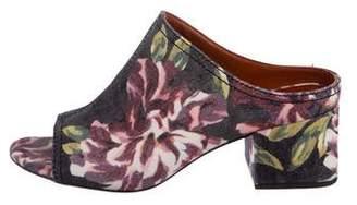 3.1 Phillip Lim Denim Floral Print Mules