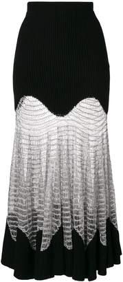 Alexander McQueen Metallic Mesh Knit skirt