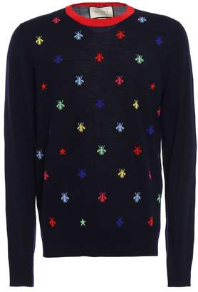 Gucci Bee And Stars Intarsia Knit Sweater