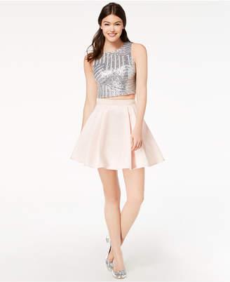 B. Darlin Juniors' Sequined & Taffeta 2-Pc. Dress