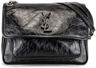 Saint Laurent Medium Niki Chain Bag in Black | FWRD