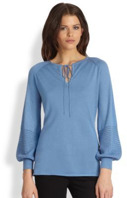 Saks Fifth Avenue Collection Long-Sleeve Silk-Cashmere Tunic