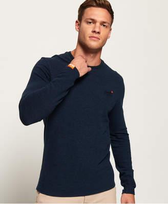 Superdry Orange Label Textured Long Sleeved T-Shirt