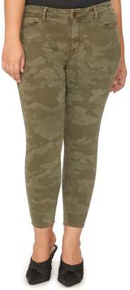 Sanctuary Social Standard High Rise Ankle Skinny Jeans (Prosperity Camo) (Plus Size)