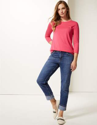 Marks and Spencer Mid Rise Relaxed Slim Leg Jeans