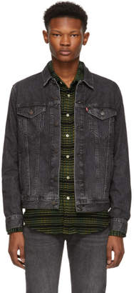 Levi's Levis Black Faded Denim Trucker Jacket