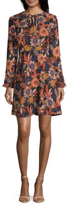 WESLEE ROSE Weslee Rose Long Sleeve Floral Fit & Flare Dress