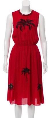 Tomas Maier Sleeveless Embellished Dress