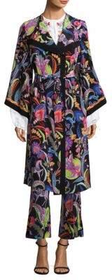 Etro Psych Paisley Silk Kimono Jacket