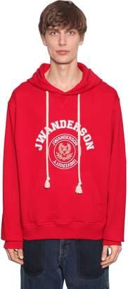 J.W.Anderson Logo Printed Cotton Sweatshirt Hoodie
