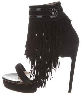 Nicholas Kirkwood Fringed Platform Sandals
