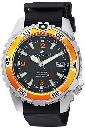 Momentum Men's 'Deep 6' Quartz Stainless Steel and Rubber Casual Watch