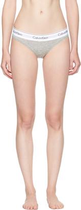 Calvin Klein Underwear Grey Modern Cotton Bikini Briefs $20 thestylecure.com