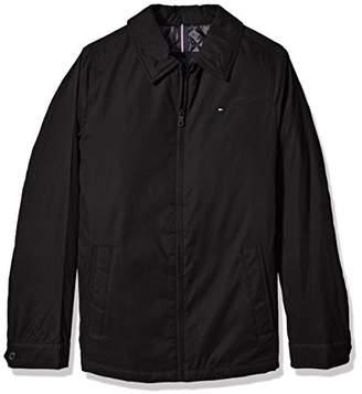 Tommy Hilfiger Men's Tall Size Micro Twill Laydown Collar Golf Jacket