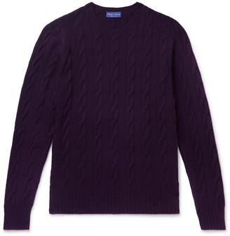 Ralph Lauren Purple Label Cable-Knit Cashmere Sweater - Men - Purple