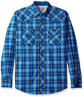 Wrangler Men's 20x Competition Comfort Two Pocket Long Sleeve Snap Shirt