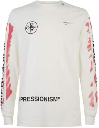 Off-White Off White Stencil Arrow Long Sleeve T-Shirt