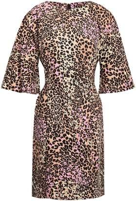 ADAM by Adam Lippes Leopard-print Stretch-cotton Mini Dress