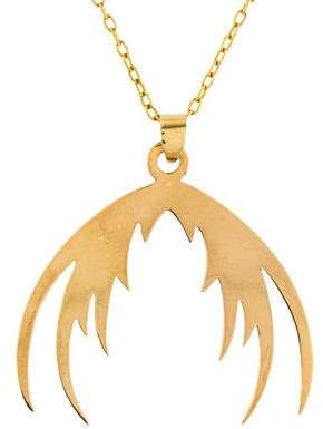 House Of Waris 18K Plumage Pendant Necklace