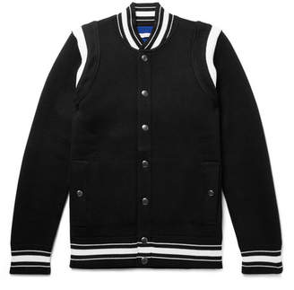 Givenchy Slim-Fit Logo-Embroidered Waffle-Knit Virgin Wool Bomber Jacket - Men - Black