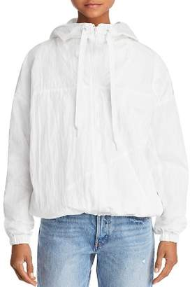 KENDALL + KYLIE Crinkled Windbreaker Jacket
