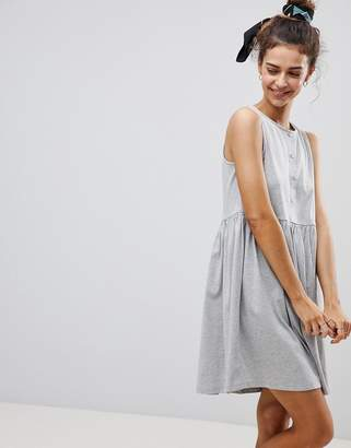 Asos DESIGN Sleeveless Button Smock Dress