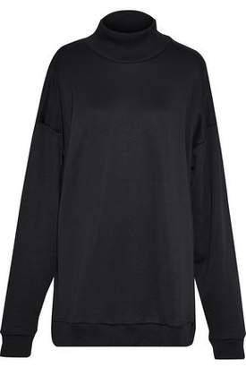 Marques Almeida Marques' Almeida Oversized Cotton-Blend Fleece Turtleneck Sweatshirt