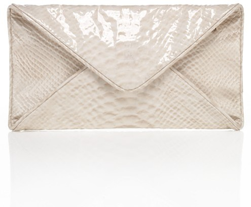 Loeffler Randall Katia Patent Envelope Clutch, Cream