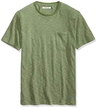 Goodthreads Men's Short-Sleeve Crewneck Striped Slub Pocket T-Shirt